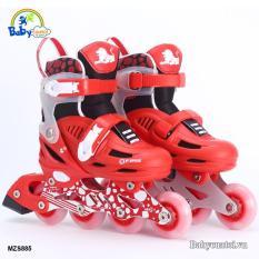Bộ giầy trượt kèm mũ, bảo vệ tay chân patin Cougar 4 bánh phát sáng MZS885