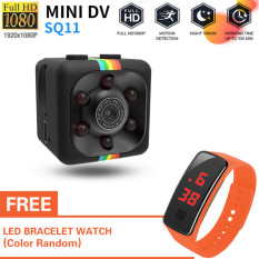 [Với đồng hồ led miễn phí]SQ11 mini Camera HD 960P small cam Sensor Night Vision Camcorder Micro video Camera DVR DV Motion Recorder Camcorder