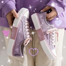 (3 MÀU) giày nữ thấp cổ chữ ký đế siêu êm 3 màu phối vải mã C2 cực đẹp trẻ trung