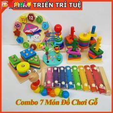 Combo 7 bộ đồ chơi gỗ thông minh giáo dục sớm