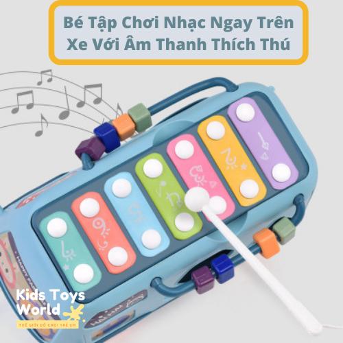 Đồ chơi trẻ em phát ĐỒ CHƠI TRẺ EM PHÁT TRIỂN TRÍ TUỆ 5 trong 1 ghép hình khối, Nhạc, Số, Đồng Hồ
