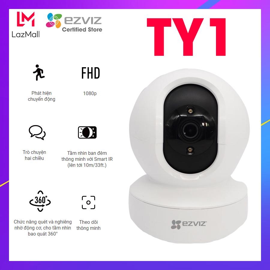 Camera EZVIZ TY1 2MP Wifi xoay 355 độ, âm thanh 2 chiều, theo dõi thông minh – Hàng chính hãng Bảo hành 2 năm