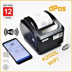 Máy in hoá đơn K80 Xprinter K200L USB/WIFI in Không Dây từ điện thoại máy tính sử dụng giấy in nhiệt 80mm