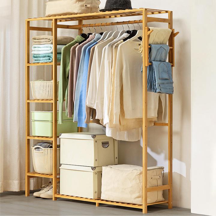 Tủ treo quần áo gỗ tre đủ size, gỗ tre tự nhiên thân thiện môi trường, phủ bóng chống mỗi mọt, ẩm mốc