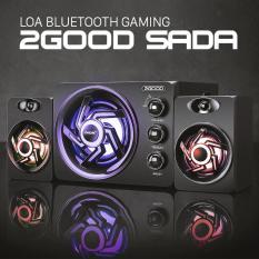Loa Bluetooth 2Good Sada 209 (Loa 2.1 led nháy theo nhịp điệu; hỗ trợ bluetooth, thẻ nhớ, usb)