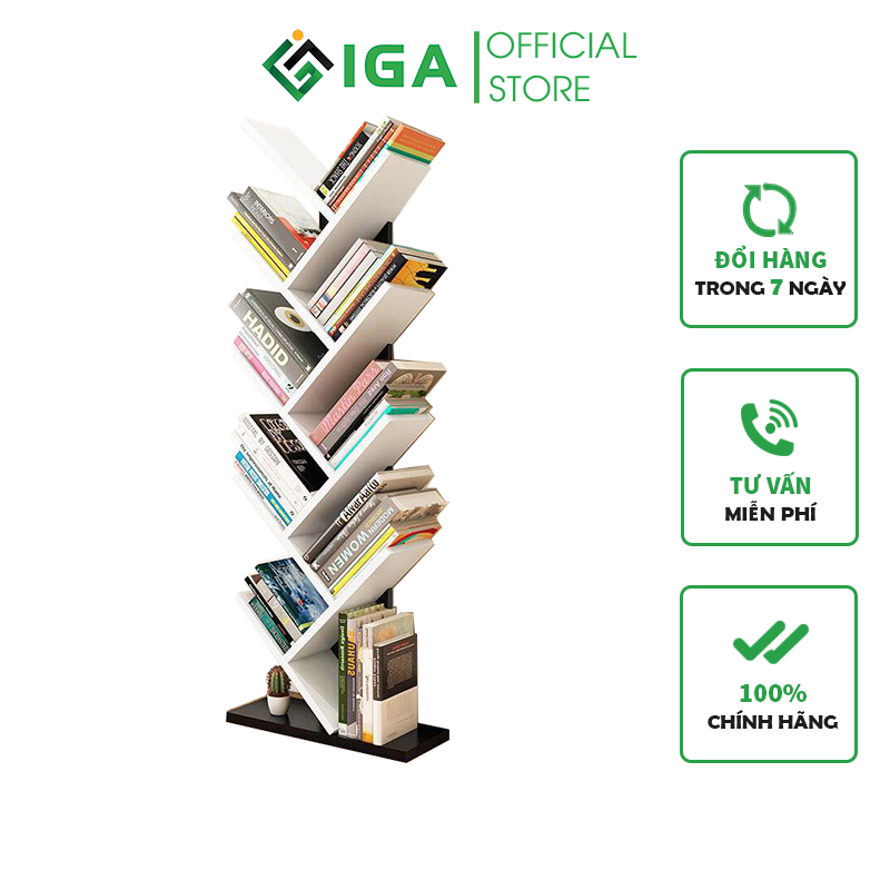 Kệ sách hình cây 9 tầng hiện đại thông minh – GP03