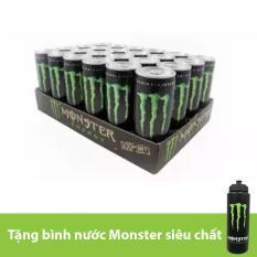 Nước tăng lực Monster thùng 24 lon 355ml + Tặng bình nước Monster siêu chất