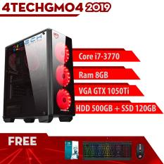 Máy Tính Chơi Game 4TechGM04 – 2019 Core i7-3770, Ram 8GB, HDD 500GB + SSD 120GB, VGA GTX 1050Ti – Tặng Bộ Phím Chuột Gaming DareU.