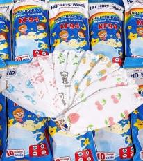 Chỉ 900đ/ chiếc. Túi Khẩu Trang Em Bé 4D HOÀNG DƯƠNG gồm 10 cái Kháng Khuẩn, yên tâm cho bé dùng mùa dịch