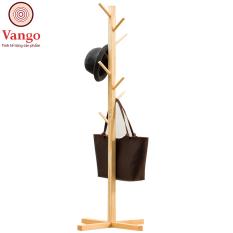 Cây Treo Quần Áo Đứng Bằng Gỗ Tự Nhiên VANGO V6 – Cây Phơi Treo Đồ Đa Năng Phong Cách Nội Thất Hiện Đại, Thông Minh, Sang Trọng, Thân Thiện Môi Trường