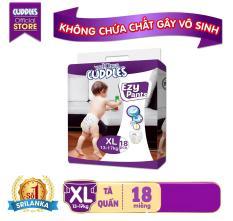 (Không chứa chất gây vô sinh)Tã Quần Velona Cuddles XL18 ( 18 Miếng)