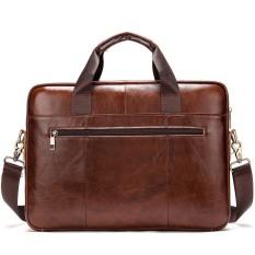 Túi xách cặp da đựng laptop da bò cao cấp T38 39.5×28.5×6.7cm (Nâu)