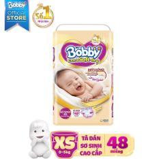 Tã dán sơ sinh cao cấp siêu mềm Bobby Extra Soft Dry Newborn-XS48 (0 – 5kg)