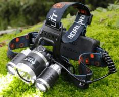 Đèn pin đội đầu siêu sáng – Đèn Pin Led Siêu Sáng Đội Đầu 3 Bóng (Đen) Nhiều Chế độ