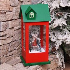 Nhà Noel cỡ lớn phát nhạc có tuyết bay dùng để trang trí Giáng sinh bằng điện