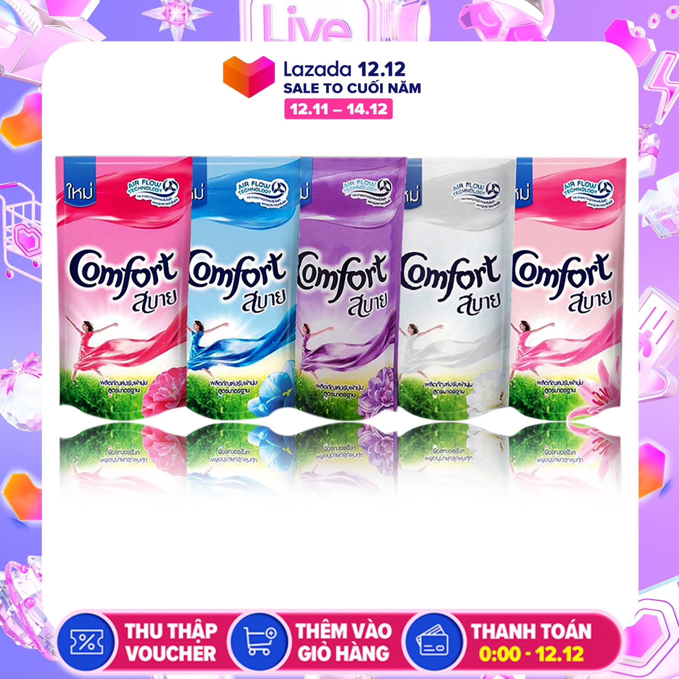 Xả mềm vải Comfort Thái Lan 1 túi 580ml. Comfort xả vải hương thơm nhẹ ecoshine (màu ngẫu nhiên)