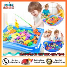 Đồ chơi câu cá, bộ đồ chơi câu cá cho bé kèm bể phao, chất liệu nhựa ABS an toàn cho bé