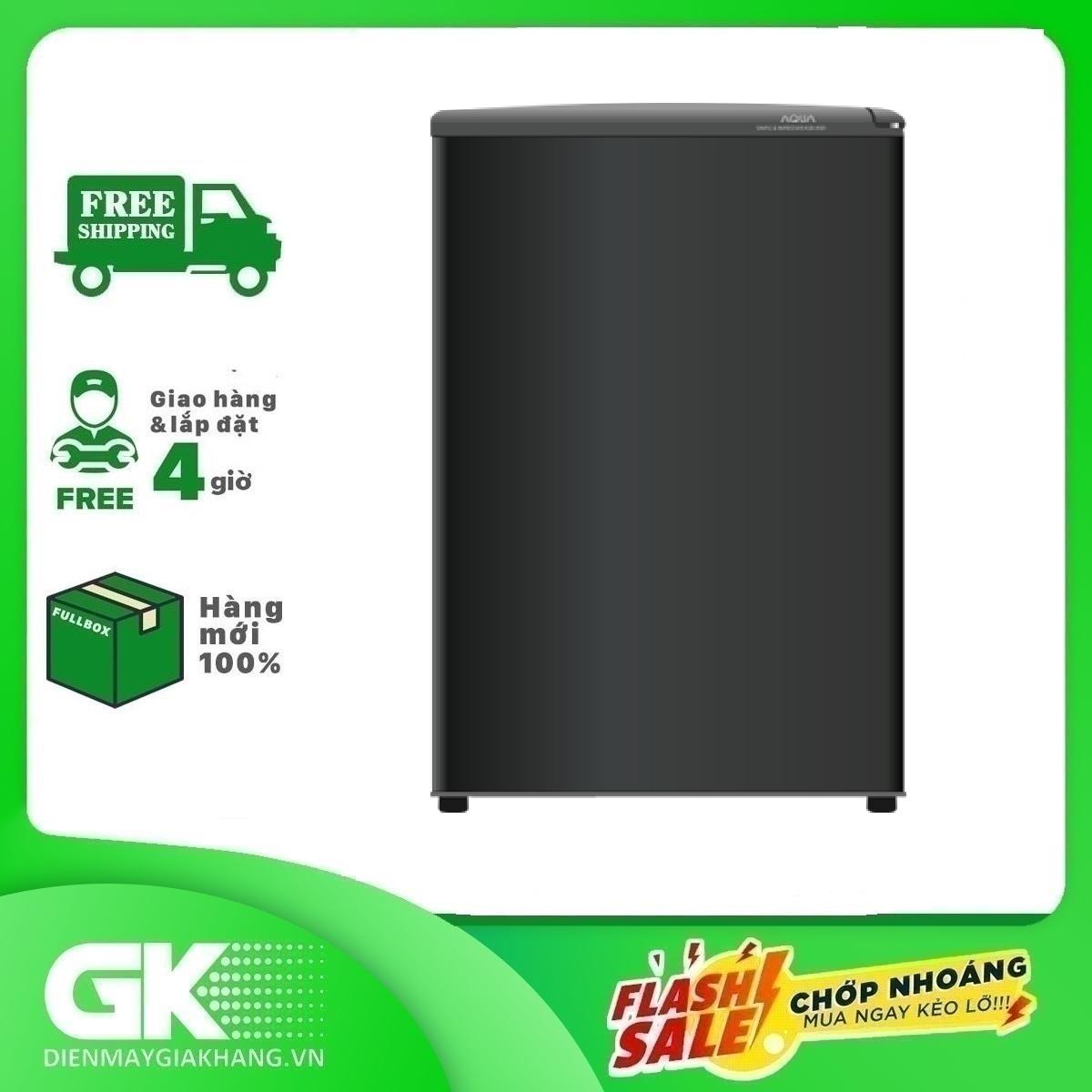 [Nhập ELMAY21 giảm 10% tối đa 200k đơn từ 99k]Tủ lạnh Aqua 90 lít AQR-D99FA(BS)