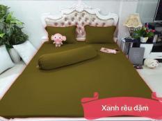 Bộ Drap Thun màu Hàn Quốc 1M6 X 2M {4 MÓN } – cam kết sản phẩm như hình 100%