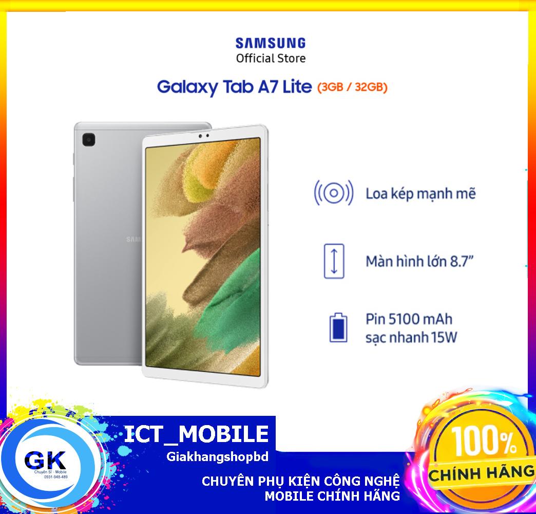 [Nguyên seal] Máy tính bảng Samsung Galaxy Tab A7 Lite (SM-T225) – Hàng Chính Hãng