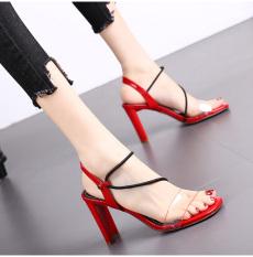 (Bảo hành 12 tháng) Giày cao gót nữ gót mảnh quai ngang trong phối dây zik zak – Giày sandal cao gót 9cm – Giày nữ da bóng cao cấp 3 màu Đen – Kem – Đỏ – Linus LN120