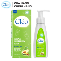 Lotion Tẩy Lông Cleo Avocado Hair Removal Lotion All Skin Types 90ml