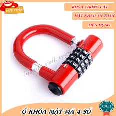 Ổ khóa chữ U mini 4 mã số bảo đảm an toàn cho tài sản (KMS04) Huy Tuấn