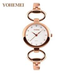[Xả lỗ do dịch Corona] Đồng hồ nữ lắc tay đính đá YOHEMEI CH391