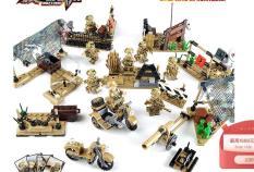 Lego bộ xếp hình lắp ghép thông minh quân đội cảnh sát lính COMBO 8 HỘP LÍNH VÀ PHỤ KIỆN LEPIN