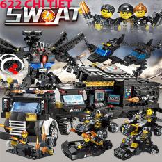 Đồ chơi lắp ráp, Lego Giá Re, Lego robot, đoàn tàu, biệt đội cảnh sát chất lượng cao 622 chi tiết-HAPPY SHOP ONE