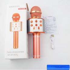 WS858 Pin Karaoke Bluetooth Không Dây thời lượng trong 10 tiếng WS858 – Âm vang – Ấm – mic hát karaoke cầm tay mini