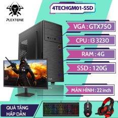 PC gaming giá rẻ full bộ, bộ máy tính để bàn chơi game 4TechGM01SSD CPU core i3, Ram 4Gb, SSD120Gb, PC giá rẻ chơi các game LOL, Dota2, Fifa, tặng kèm bàn phím, chuột, tai nghe, bảo hành 12 tháng, hỗ trợ ship toàn quốc.