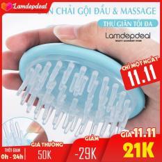 Lamdepdeal – Bàn chải gội đầu kết hợp massage da đầu bằng túi khí – Dụng cụ làm tóc