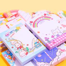 Giấy note 100 tờ cầm tay nhỏ gọn tiện lợi đủ họa tiết cute cùng nhiều màu sắc lung linh đáng yêu cho mọi lứa tuổi BBShine – H030