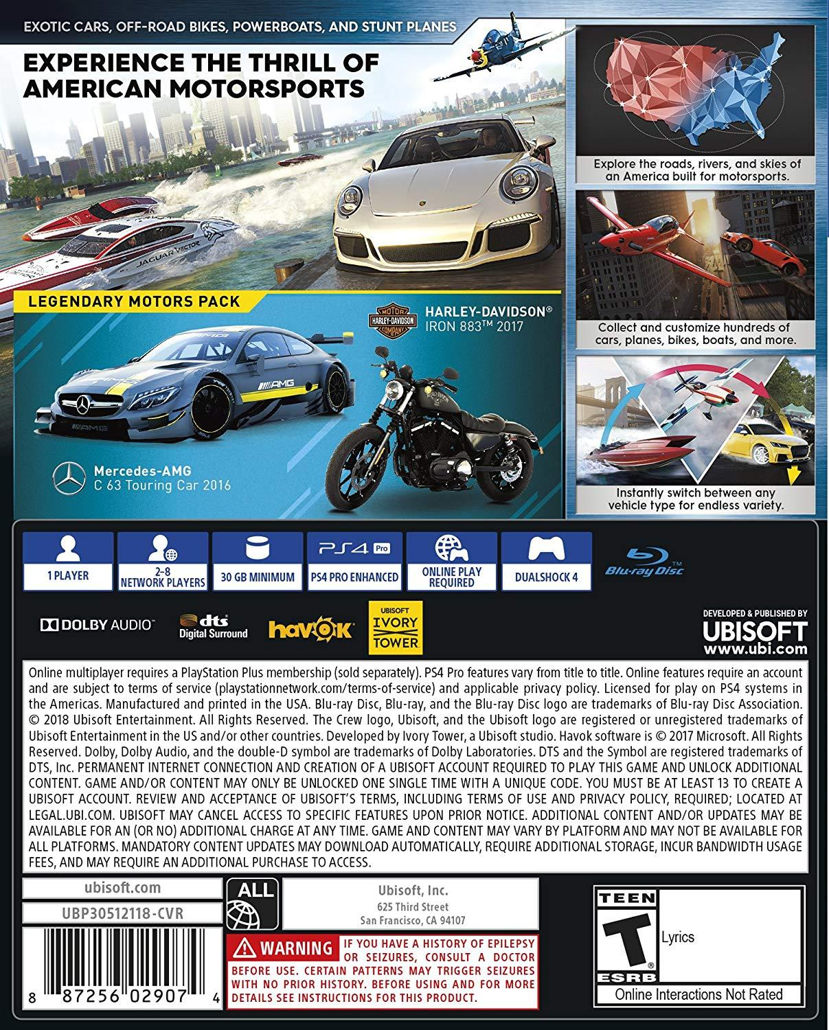 [US-NEW] Đĩa game The Crew 2 - PlayStation 4