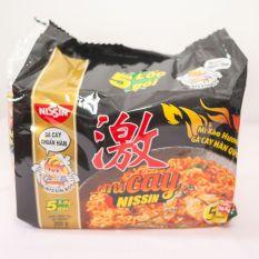 Mì cay hàn quốc nisin ( lốc 5 gói ) mỳ vị gà cay nissin