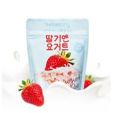 [DATE 2021] Sữa chua khô BEBEDANG ăn dặm cho bé (nhập khẩu chính hãng Hàn Quốc) vị Dâu