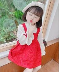 Váy đầm dài tay công chúa xinh xắn cho bé gái 8-20kg