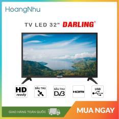 Tivi LED Digital DVB-T2 Darling 32 inch Model 32HD962S2 (HD Ready, màu đen) – Bảo hành toàn quốc 2 năm