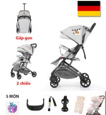 Xe đẩy cho bé 2 CHIỀU 3 tư thế FLY (Đức) , siêu nhẹ với hơn 6kg, gấp gọn thành vali kéo tiện lợi (màu xám)
