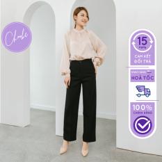 Quần suông ống rộng Choobe vải cao cấp, culottes nữ mặc kéo dài chân -Q01