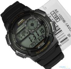 Đồng hồ nam dây nhựa Casio ANH KHUÊ AE-1000W-1AVDF (Đen)