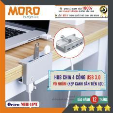 Bộ hub chia 4 cổng USB 3.0 – ORICO MH4PU (Nhôm) – Kẹp cạnh bàn tiện lợi !