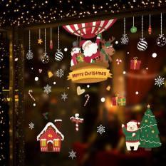 Hình dán TRANG TRÍ NOEL TẠO KHÔNG KHÍ RỘN RÀNG, trang trí nhà cửa, cửa sổ tự làm, hình người tuyết, ông già Noel, miếng dán tĩnh có thể tháo rời