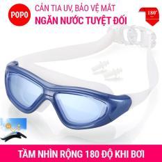 Kính bơi người lớn tầm nhìn rộng 180 độ, kính bơi nam, nữ mắt kiếng bơi tráng gương, chống tia UV POPO Collection