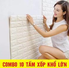 ComBo 10 Tấm xốp dán tường 3D giả gạch Hàn Quốc 70x77cm dày 4mm MARKETVIETNAM chống ẩm mốc ,chịu lực,dễ thi công