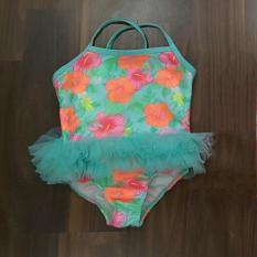 Váy đầm bơi Tu Tu hoa xanh bé gái ( hàng xuất xịn)