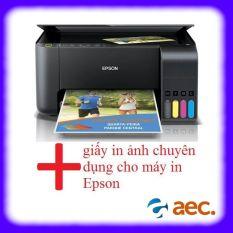 Máy in phun màu đa chức năng Epson L3150 ( In – Scan – Photo – Wifi ) sử dụng mực Hàn Quốc đã có kèm 4 bình mực Hàn Quốc + Khuyến mại 2 tập giấy in ảnh chuyên dụng cho máy in Epson