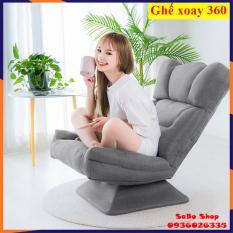 Ghế bệt tựa lưng xoay 360 độ – ghế sofa xoay 360 độ ghế thư giãn đa năng chất liệu vải