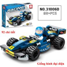Bộ đồ chơi xếp hình Lego ô tô mô hình phát triển tư duy cho bé, cả nhà có thể cùng chơi và lắp ráp ( 92 chi tiết)
